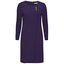 Buy Gina Bacconi Moss Crepe Dress, Purple Online at johnlewis.com