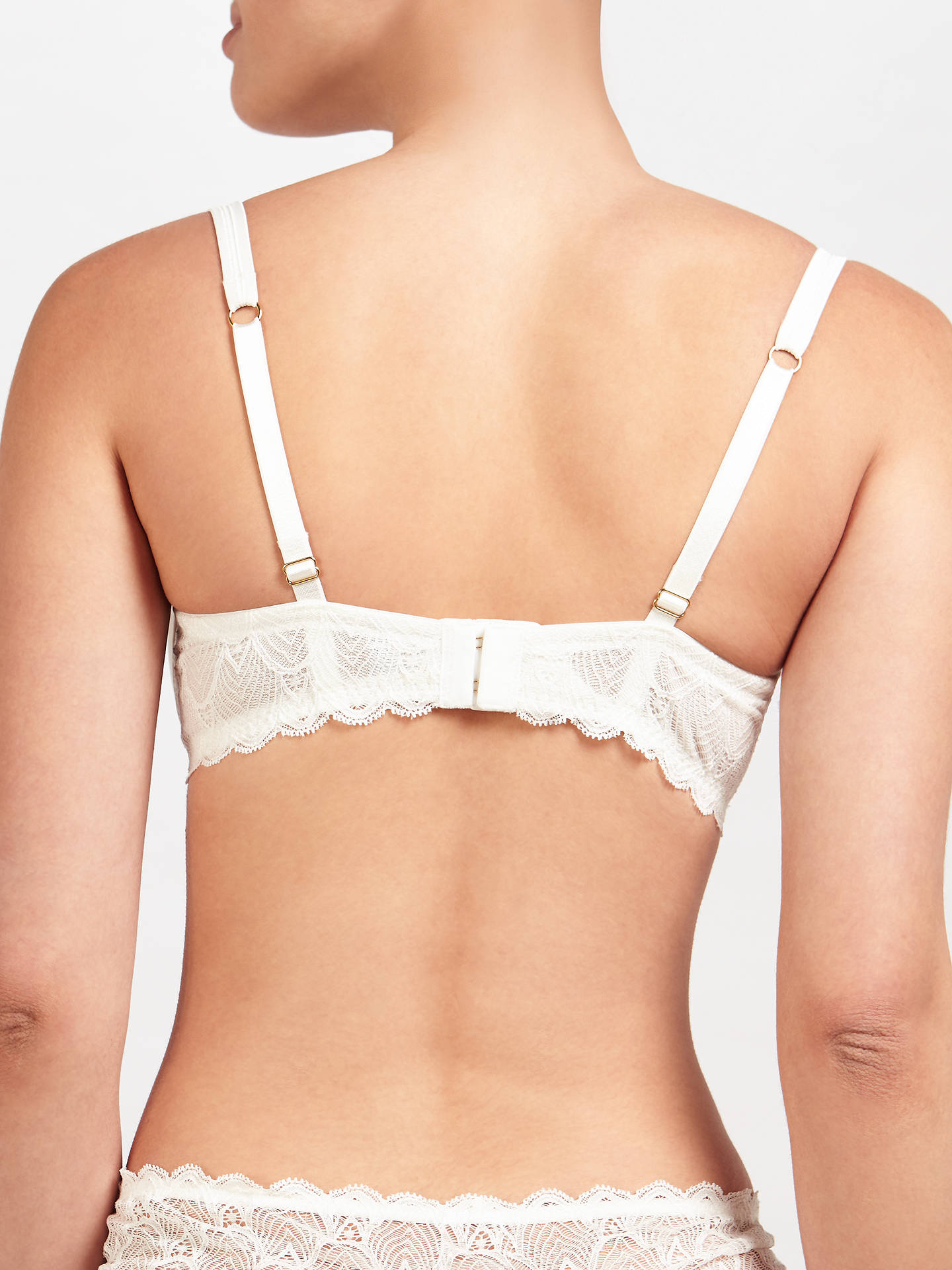 BuyJohn Lewis Eleanor T-Shirt Bra, Ivory, 30D Online at johnlewis.com