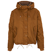 Buy Whistles Blake Casual Hooded Coat, Brown Online at johnlewis.com