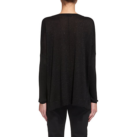 Buy Whistles Sparkle V-Neck Jumper, Black Online at johnlewis.com