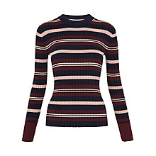 Buy Whistles Stripe Rib Jumper, Multi Online at johnlewis.com