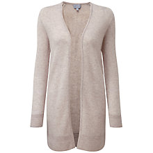 Buy Pure Collection Kiera Rib Cashmere Cardigan, Frost Blue Online at johnlewis.com