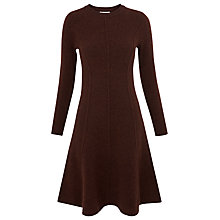Buy Whistles Seymour Wool Flare Dress, Brown Online at johnlewis.com