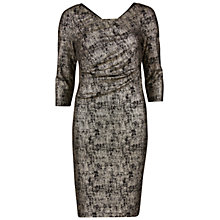 Buy Gina Bacconi Metallic Dress, Black/Gold Online at johnlewis.com