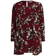 Buy Gina Bacconi Etched Floral Crepe Top, Claret Online at johnlewis.com