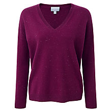 Buy Pure Collection Mary Relaxed Jumper, Berry Fleck Online at johnlewis.com