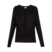 Buy Whistles Sparkle Cardigan, Raspberry Online at johnlewis.com