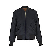 Buy Whistles Carter Reversible Bomber Jacket, Navy Online at johnlewis.com