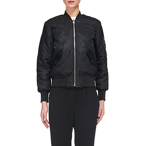 Buy Whistles Carter Reversible Bomber Jacket, Navy | John Lewis