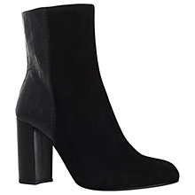 Buy Kurt Geiger Nova Block Heeled Ankle Boots, Black Online at johnlewis.com