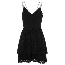 Buy Whistles Daisy Tiered Lace Dress, Black Online at johnlewis.com