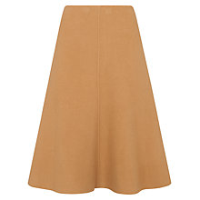 Buy Whistles Double Faced Midi Skirt, Camel Online at johnlewis.com