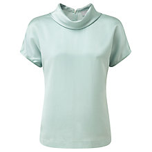 Buy Pure Collection Celia Silk Roll Neck Top, Soft Opal Online at johnlewis.com