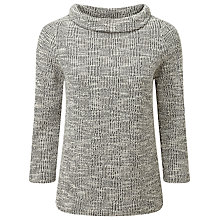 Buy Pure Collection Jessica Jacquard Bardot Top, Black/Ivory Texture Online at johnlewis.com