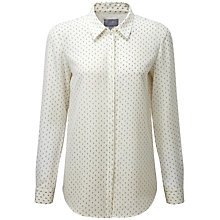 Buy Pure Collection Maya Silk Blouse, Grey Triangle Print Online at johnlewis.com