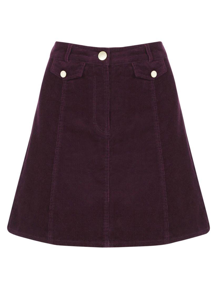 c7425a7e1 Oasis Cord Pocket Mini Skirt, Burgundy at John Lewis & Partners