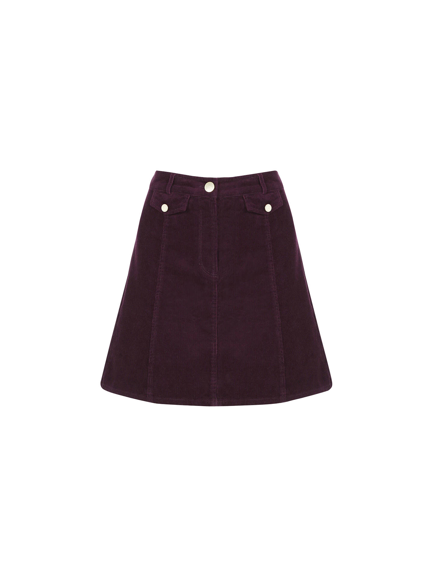 94f5fa065 Buy Oasis Cord Pocket Mini Skirt, Burgundy, 8 Online at johnlewis.com ...
