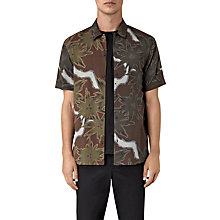 Buy AllSaints Zapata Floral Short Sleeve Shirt, Brown Online at johnlewis.com