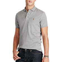 Buy Polo Ralph Lauren Custom Fit Polo Shirt, Speedway Grey Heather Online at johnlewis.com