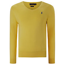 Buy Polo Ralph Lauren Slim Fit V Neck Jumper Online at johnlewis.com