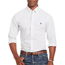 Buy Polo Ralph Lauren Button Down Check Poplin Shirt, White/Navy Online at johnlewis.com
