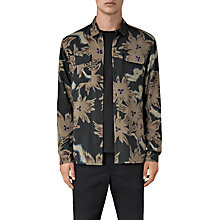 Buy AllSaints Shonto Floral Slim Fit Shirt, Bottle Green Online at johnlewis.com