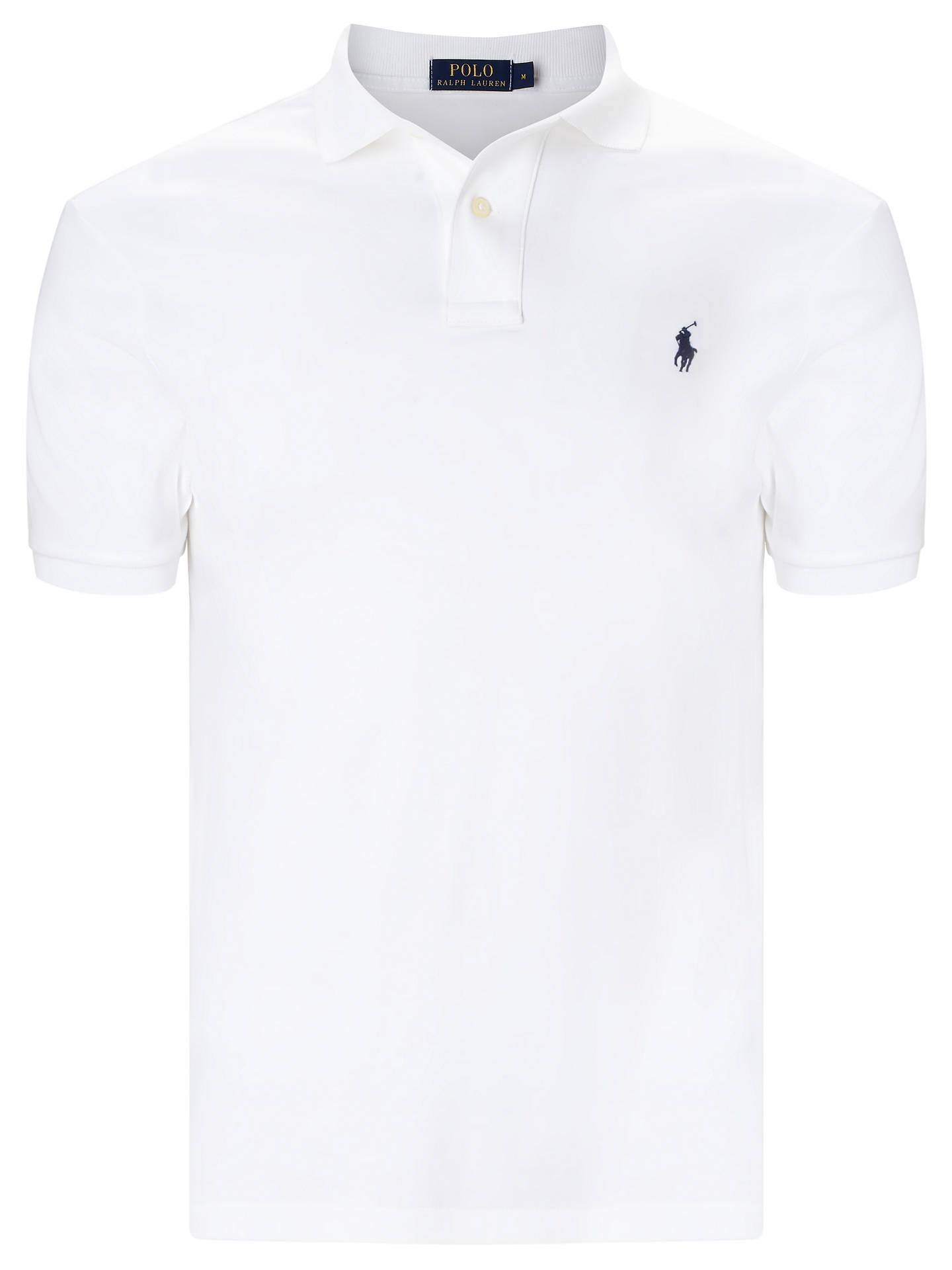 a24d7e9d6 Buy Polo Ralph Lauren Pima Cotton Soft-Touch Polo Shirt, White, S Online ...