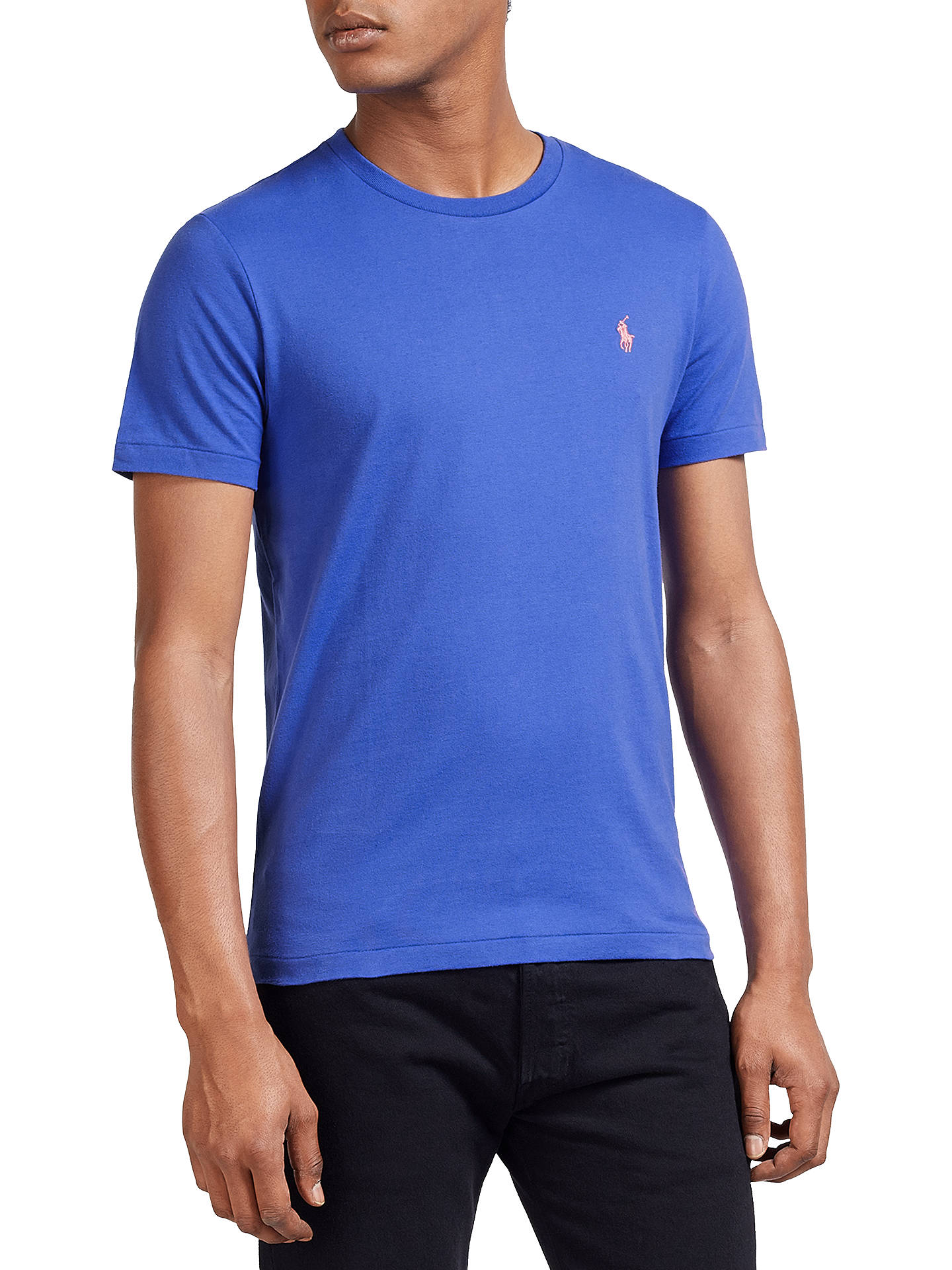 a1c18512 Buy Polo Ralph Lauren Short Sleeve Custom Fit Crew Neck T-Shirt, Collection  Royal ...