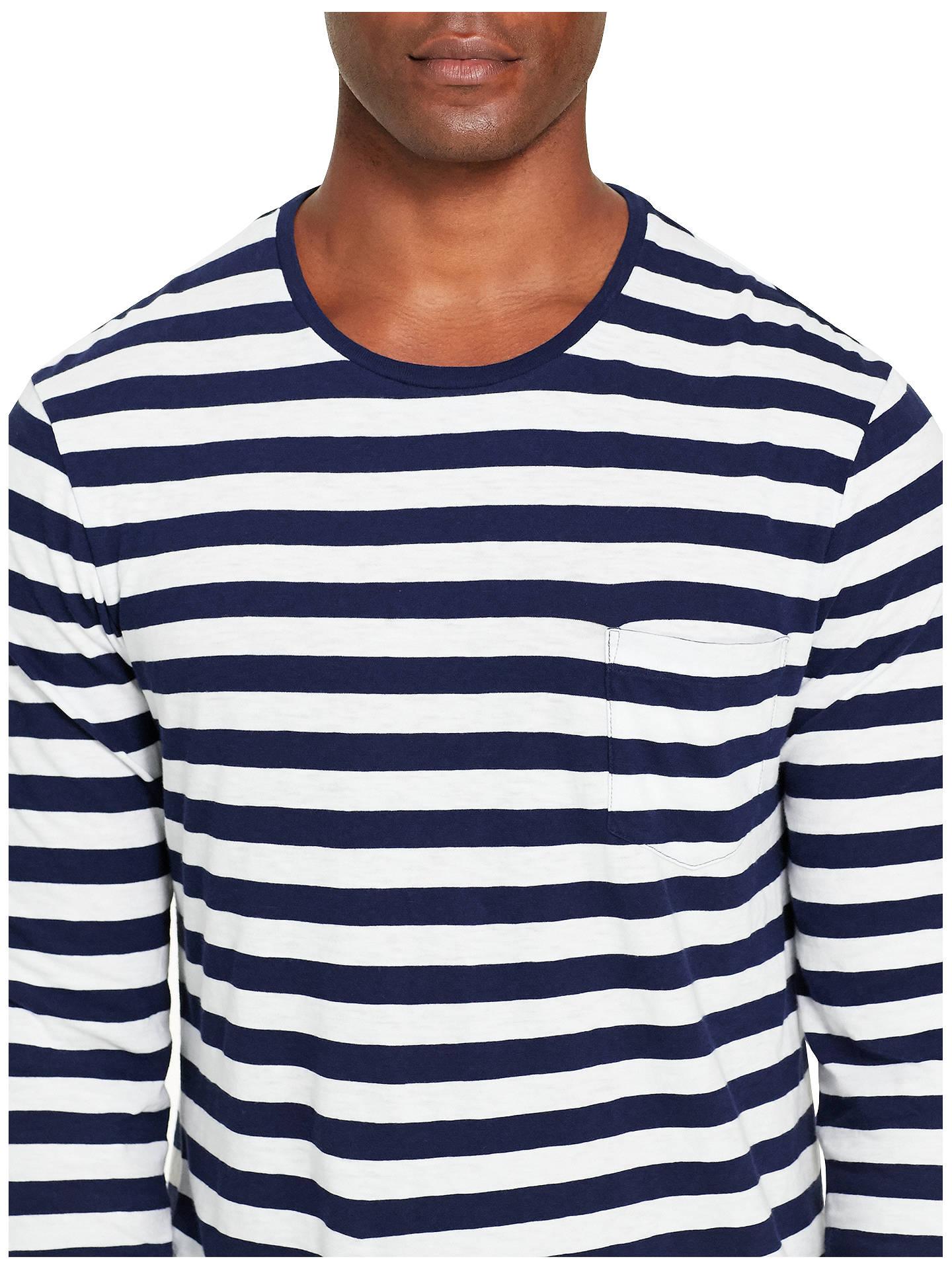 a8b97cdbcb8768 ... Buy Polo Ralph Lauren Striped Long Sleeve T-Shirt, Cruise Navy/White,  ...