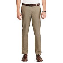 Buy Polo Ralph Lauren Varick Slim Straight Fit Chinos, Whiskey Barrel Online at johnlewis.com