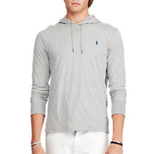 Buy Polo Ralph Lauren Long Sleeve Knitted Hoodie, Andover Heather Online at johnlewis.com