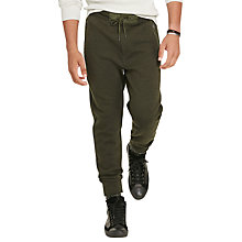 Buy Polo Ralph Lauren Birdseye Cotton-Blend Jogging Bottoms, Company Olive Online at johnlewis.com