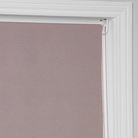 Buy Croft Collection Textured Blackout Roller Blind, Rosa Online at johnlewis.com