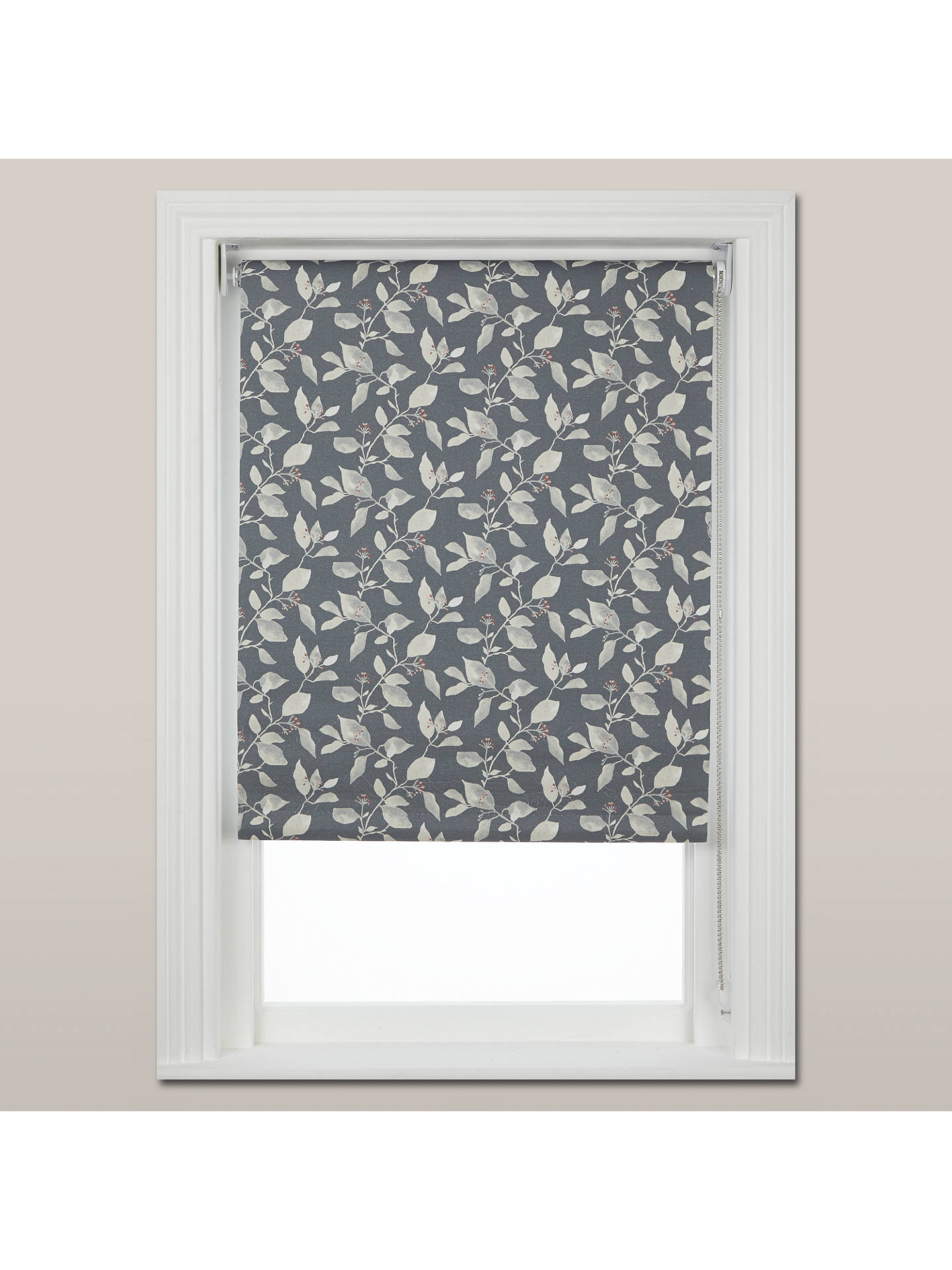 BuyJohn Lewis & Partners Country Viburnum Blackout Roller Blind, Thistle, W61cm Online at johnlewis.com