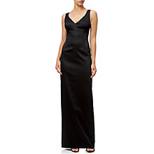 Buy Adrianna Papell V-Neck Ottoman Column Gown, Black Online at johnlewis.com