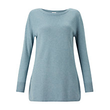 Buy East Curved Hem Sparkle Jumper, Celadon Online at johnlewis.com
