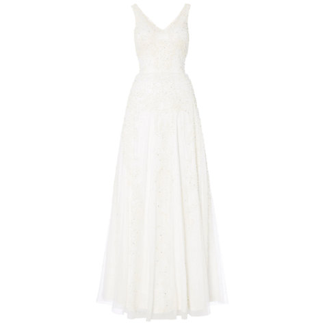Buy Raishma V-Neck Pearl Beaded Gown, Ivory Online at johnlewis.com