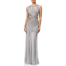 Buy Adrianna Papell Sleeveless Fully Beaded Gown, Bridal Silver Online at johnlewis.com