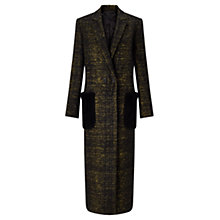 Buy Jigsaw Haze Check Patch Pocket Coat, Black Online at johnlewis.com
