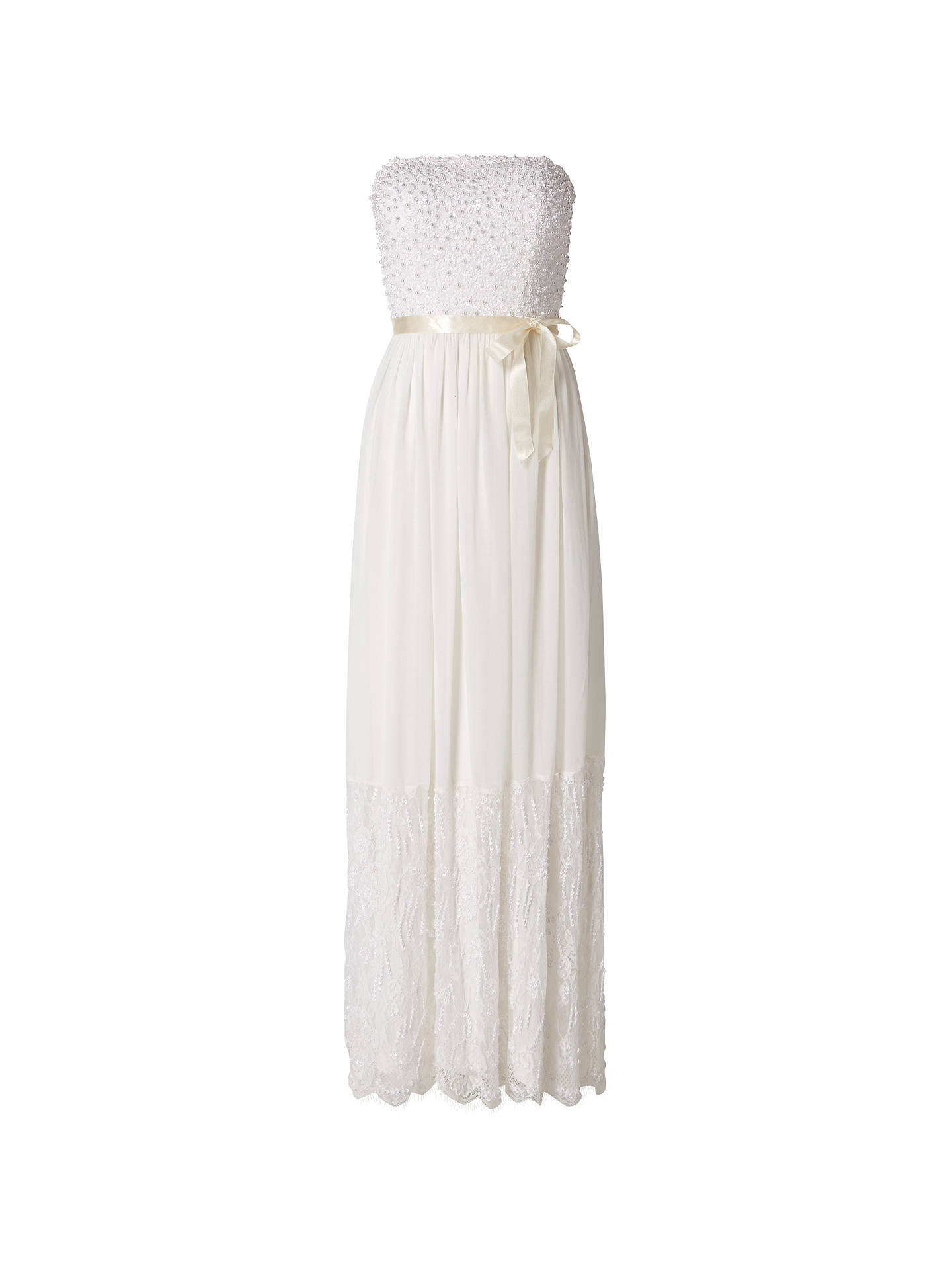 Buy Raishma Pearl Beaded Bodice Gown, White, 8 Online at johnlewis.com
