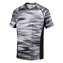 Buy Puma Graphic Print Short Sleeve Running T-Shirt, Grey Online at johnlewis.com
