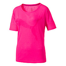 Buy Puma Loose Short Sleeve Running T-Shirt, Pink Online at johnlewis.com