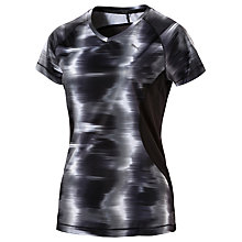 Buy Puma Graphic Print Short Sleeve Running T-Shirt, Black Online at johnlewis.com
