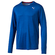 Buy Puma Long Sleeve Running T-Shirt, Blue Online at johnlewis.com