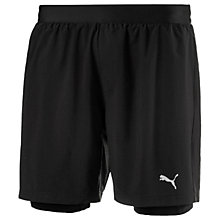 Buy Puma Pace 2-in-1 Running Shorts, Black Online at johnlewis.com