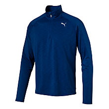 Buy Puma Core Run Half Zip Long Sleeve Running T-Shirt, Blue Online at johnlewis.com