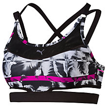 Buy Puma PWRSHAPE Future Graphic Sports Bra, Black Online at johnlewis.com