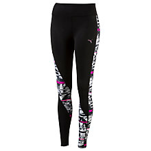 Buy Puma Clash Running Tights, Black/Multi Online at johnlewis.com
