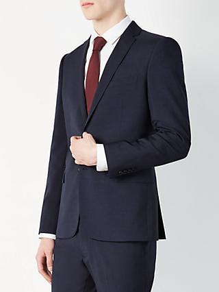 Kin Miller Pindot Slim Fit Suit Jacket, Navy