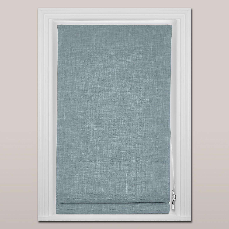 roman blind blue chenille itm egg degg blackout lined blinds fittings ebay duck